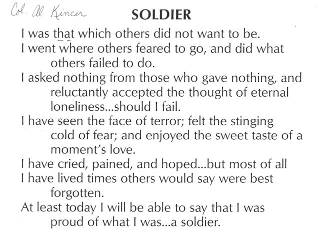 Soldier's Creed - WWII ENGINEERS - VI CORPS COMBAT ENGINEERS WWII